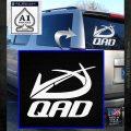 QAD Quality Archery Design Decal Sticker White Emblem 120x120