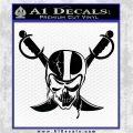 Raiders Nation Decal Sticker Black Logo Emblem 120x120