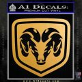 Ram Emblem Decal Sticker Metallic Gold Vinyl Vinyl 120x120