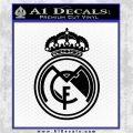 Real Madrid D1 Decal Sticker Black Logo Emblem 120x120