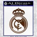 Real Madrid D1 Decal Sticker Brown Vinyl 120x120
