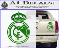 Real Madrid D1 Decal Sticker Green Vinyl 120x97