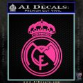 Real Madrid D1 Decal Sticker Hot Pink Vinyl 120x120
