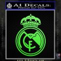 Real Madrid D1 Decal Sticker Lime Green Vinyl 120x120