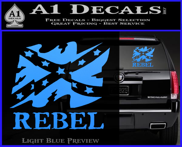 Rebel Confederate Flag VR Decal Sticker  A Decals - Rebel flag truck decals   how to purchase and get a great value safely