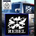 Rebel Confederate Flag VR Decal Sticker White Emblem 120x120
