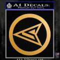 Red Arrow Speedy Roy Harper emblem DLB Decal Sticker Metallic Gold Vinyl Vinyl 120x120