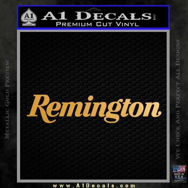 Remington Firearms Text Decal Sticker » A1 Decals