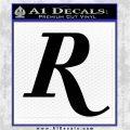 Remmington R Decal Sticker Black Logo Emblem 120x120