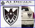 Revengers Real Shield Ultra on Decal Sticker Carbon Fiber Black 120x97