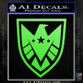 Revengers Real Shield Ultra on Decal Sticker Lime Green Vinyl 120x120
