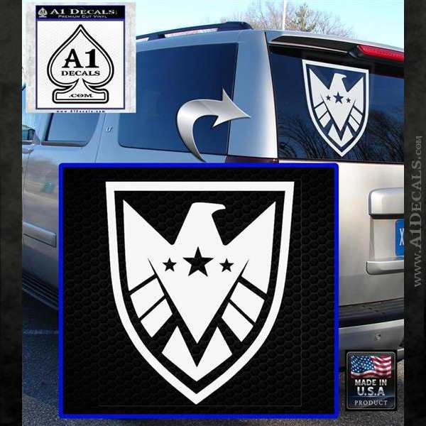 Revengers Real Shield Ultra on Decal Sticker White Emblem