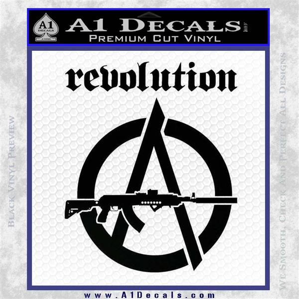 Revolution Assault Rifle Decal Sticker Black Logo Emblem