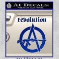Revolution Assault Rifle Decal Sticker Blue Vinyl 120x120