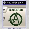 Revolution Assault Rifle Decal Sticker Dark Green Vinyl 120x120