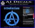 Revolution Assault Rifle Decal Sticker Light Blue Vinyl 120x97