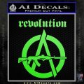 Revolution Assault Rifle Decal Sticker Lime Green Vinyl 120x120