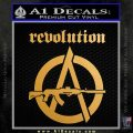 Revolution Assault Rifle Decal Sticker Metallic Gold Vinyl 120x120