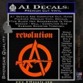 Revolution Assault Rifle Decal Sticker Orange Vinyl Emblem 120x120