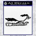 Road Runner Smoke Decal Sticker Black Logo Emblem 120x120