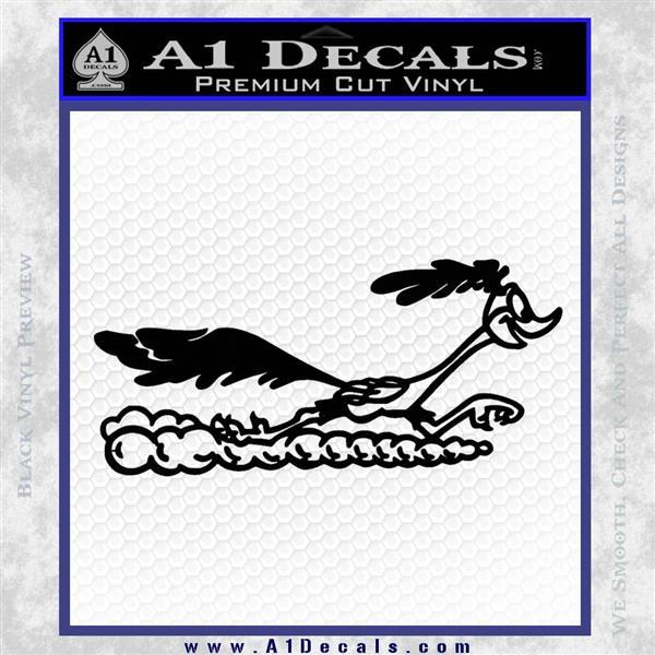 Road Runner Smoke Decal Sticker Black Logo Emblem