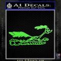 Road Runner Smoke Decal Sticker Lime Green Vinyl 120x120