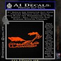 Road Runner Smoke Decal Sticker Orange Vinyl Emblem 120x120