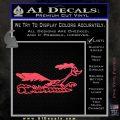 Road Runner Smoke Decal Sticker Pink Vinyl Emblem 120x120