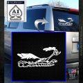 Road Runner Smoke Decal Sticker White Emblem 120x120