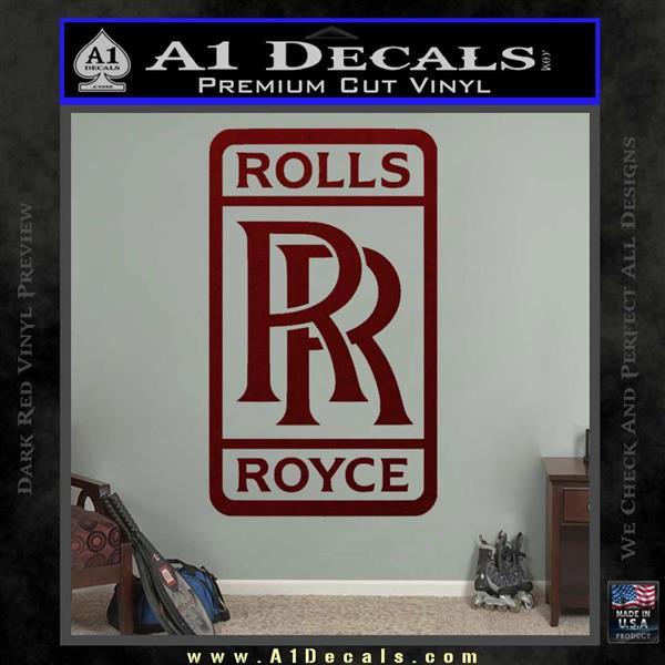 Rolls Royce Logo Decal Sticker D2 187 A1 Decals