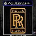 Rolls Royce Logo Decal Sticker D2 Metallic Gold Vinyl Vinyl 120x120