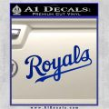 Royals Decal Sticker Script Blue Vinyl 120x120