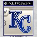 Royals Logo Decal Sticker KC Blue Vinyl 120x120
