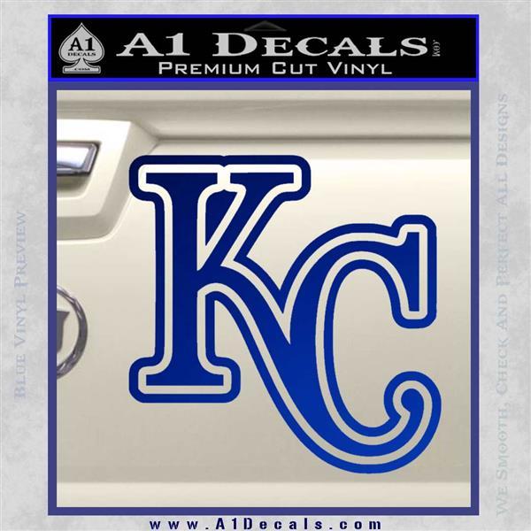 Royals Logo Decal Sticker KC Blue Vinyl