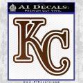 Royals Logo Decal Sticker KC Brown Vinyl 120x120