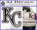 Royals Logo Decal Sticker KC Carbon Fiber Black 120x97