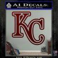 Royals Logo Decal Sticker KC Dark Red Vinyl 120x120