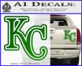 Royals Logo Decal Sticker KC Green Vinyl 120x97