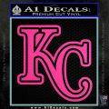 Royals Logo Decal Sticker KC Hot Pink Vinyl 120x120
