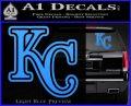 Royals Logo Decal Sticker KC Light Blue Vinyl 120x97