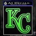 Royals Logo Decal Sticker KC Lime Green Vinyl 120x120