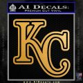 Royals Logo Decal Sticker KC Metallic Gold Vinyl 120x120
