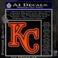Royals Logo Decal Sticker KC Orange Vinyl Emblem 120x120