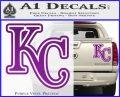Royals Logo Decal Sticker KC Purple Vinyl 120x97