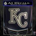 Royals Logo Decal Sticker KC Silver Vinyl 120x120