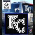 Royals Logo Decal Sticker KC White Emblem 120x120