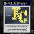 Royals Logo Decal Sticker KC Yelllow Vinyl 120x120