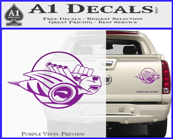 """Dodge Rumble Bee/'s Purple Large Decals Right /& Left 9/"""" Each"""