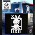 S.A.A.U.S.O. Assassination Classroom Decal Anti Koro Sensei White Emblem 120x120