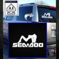 SEA DOO SEXY GIRL LOGO VINYL DECAL STICKER White Emblem 120x120